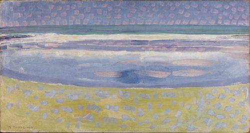 Piet Mondriaan. Zeegezicht van 1000 Schilderijen