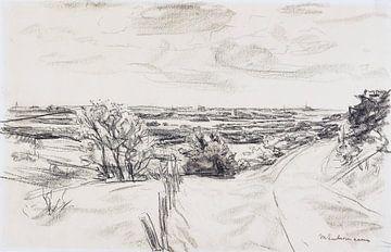 Landschaft an der Küste bei Noordwijk, MAX LIEBERMANN, 1910 von Atelier Liesjes