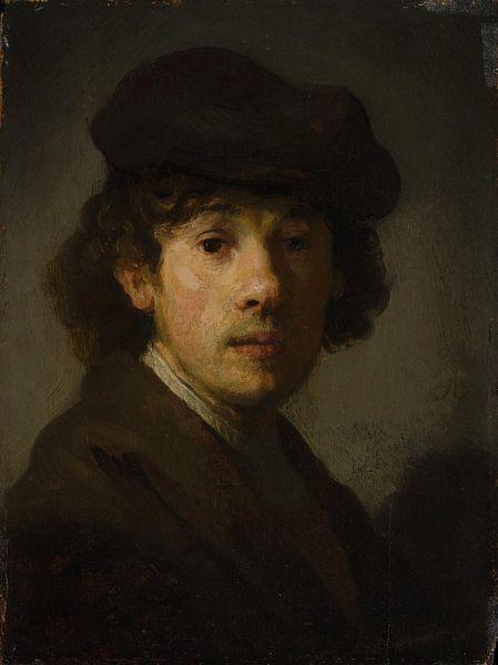 Rembrandt (1606-1669) als een jonge man, stijl van Rembrandt van Rembrandt van Rijn