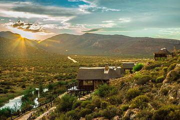 Zonsondergang in Zuid-Afrika van Ralf van de Veerdonk