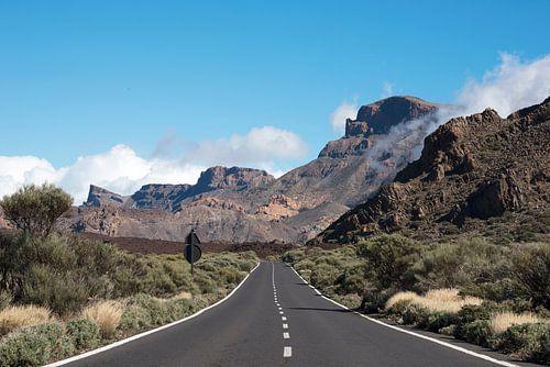 weg naar de el teide vulkaan op tenerife sur Compuinfoto .