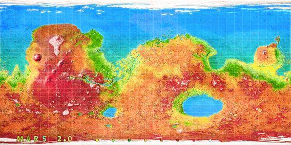 Mars 2.0 - de kleurrijke planeet van Frans Blok