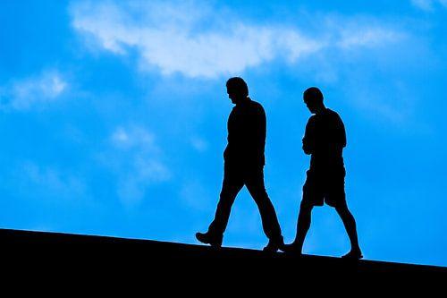 Two men Walking.