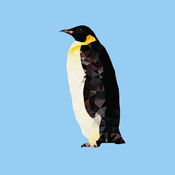 Pinguin van Low Poly