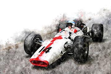 John Surtees on Honda von Theodor Decker