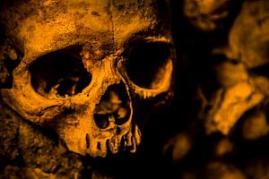 Doodshoofd Catacomben van Parijs