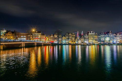 Amsterdam Amstel bij Nacht