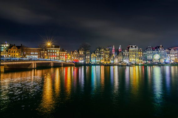 Amsterdam Amstel bij Nacht van Ardi Mulder