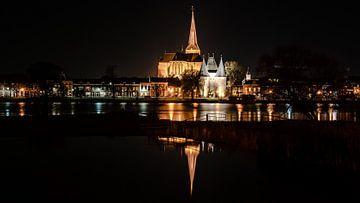 Koornmarktspoort en Bovenkerk in Kampen van Fotografiecor .nl