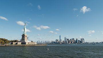 Statue de la Liberté et Manhattan sur Bas de Glopper
