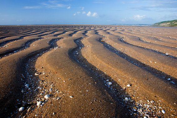 Ribbels in het zand