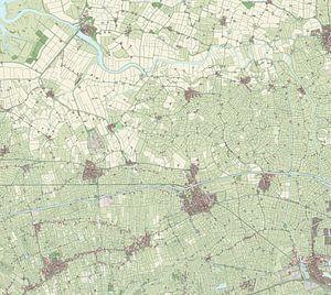 Kaart vanZuidhorn van