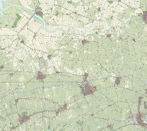 Kaart vanZuidhorn van Rebel Ontwerp