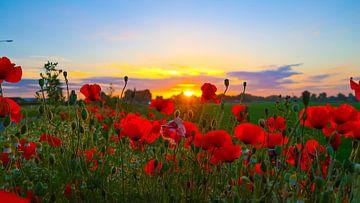 Fraaie, licht bewolkte zonsopkomst  van Ab Donker