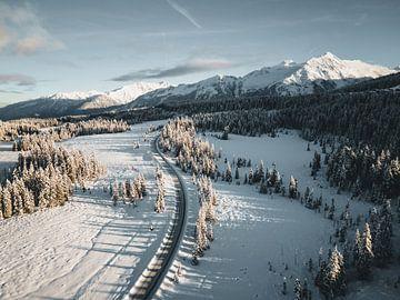Paysage d'hiver route du Tirol à Salzbourg Hochkrimml Gerlos sur Daniel Kogler