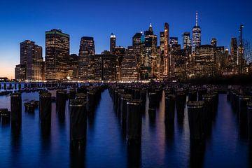 Manhattan-skyline van Matthias Stange