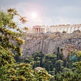 Akropolis in Athene, Griekenland van Miranda van Hulst