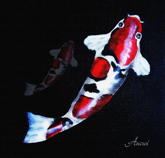 Koi vissen van Iwona Sdunek alias ANOWI