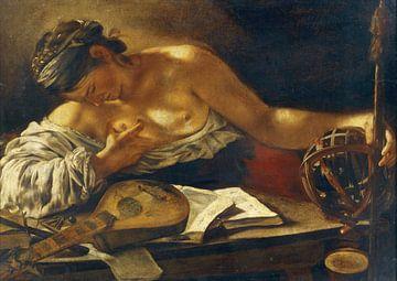 Giovanni Serodine, Allegorianische weibliche Figur - 1626