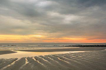 Zonsondergang op Ameland van Ron van Ewijk