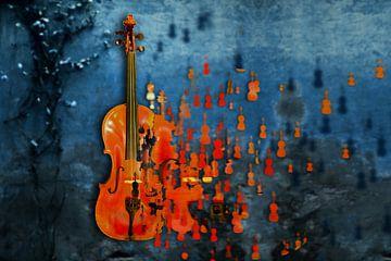 Explodierende Geige von Christiane Calmbacher