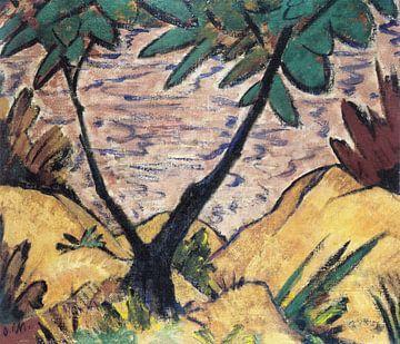 Landschap met een gevorkte boom, Otto Mueller - ca1920 van Atelier Liesjes