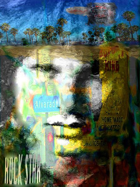 Jim Morrison Pop Art Canvas
