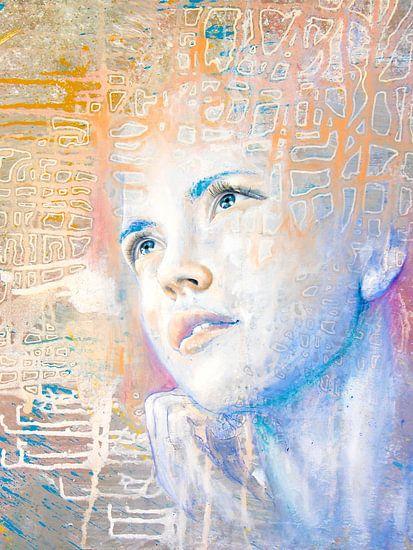 Dromer | portret van een dagdromer  van Anouk Maria van Deursen