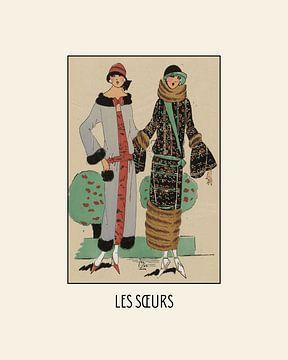 Les soeurs - Die Schwestern | Art Deco Fashion Druck von NOONY