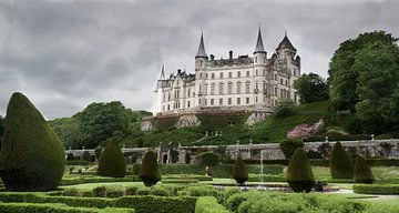 Le château de Dunrobin un jour gris sur Ineke Huizing