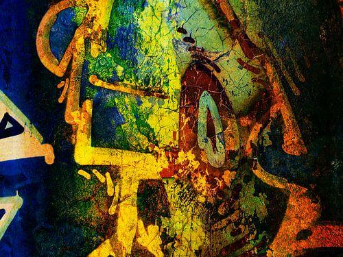Modern, Abstract kunstwerk - There's An Innerpeace I'm Seaking van