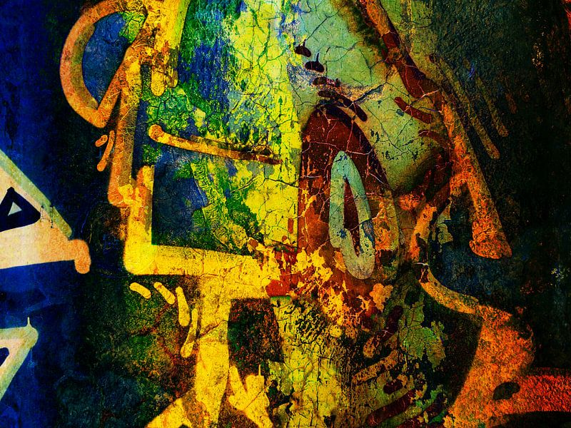Modern, Abstract kunstwerk - There's An Innerpeace I'm Seaking van Art By Dominic