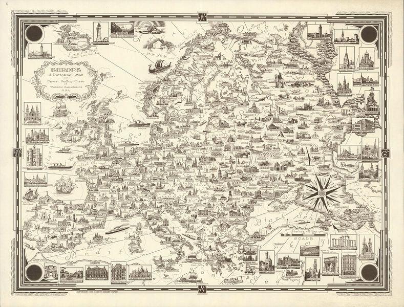 Europa: een picturale kaart van World Maps
