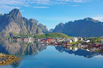 Aussicht auf den Reinefjorden