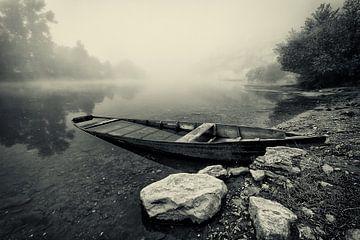 Mistige ochtend in Beynac van Halma Fotografie