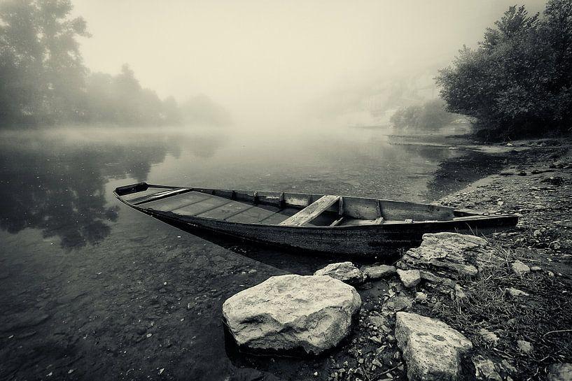 Mistige ochtend in Beynac van Peter Halma