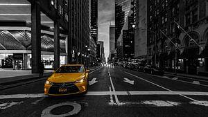 Yellow cab in New York van Kimberly Lans