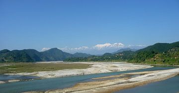 'Landschap', Rupa Tal- Nepal van Martine Joanne