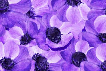 Anemonen-lila,abstrakt von Marion Tenbergen