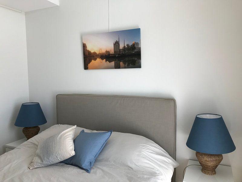 Photo de nos clients: Oude Haven met zonsopkomst (panorama) sur Prachtig Rotterdam