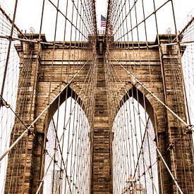 Brooklyn bridge, New York van Stefan Verheij