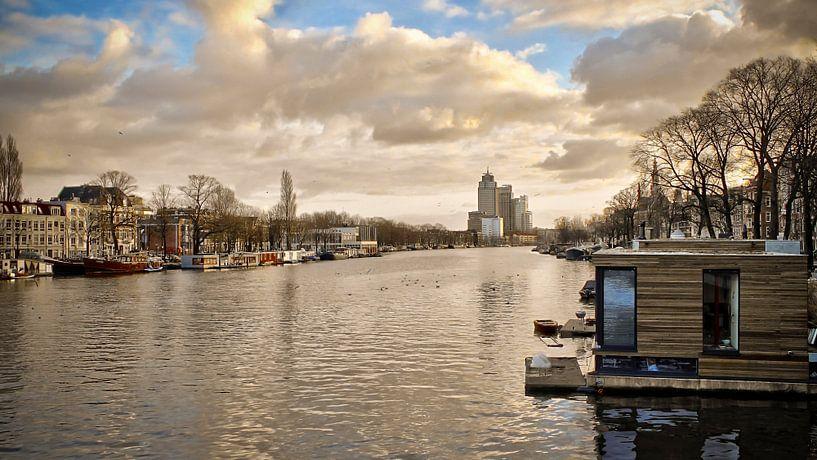 Amsterdam in winter van Maarten Drupsteen