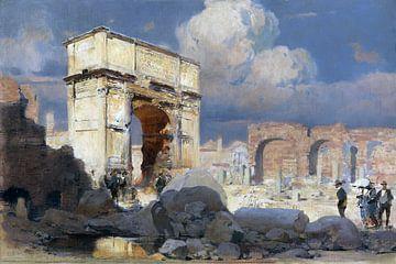 Bij de boog van Titus in Rome, ERICH KIPS, Um 1900 van Atelier Liesjes