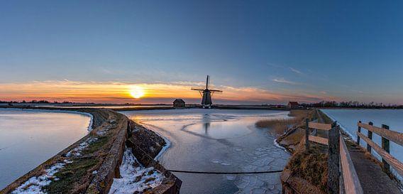 Molen het Noorden Texel winterlandschap
