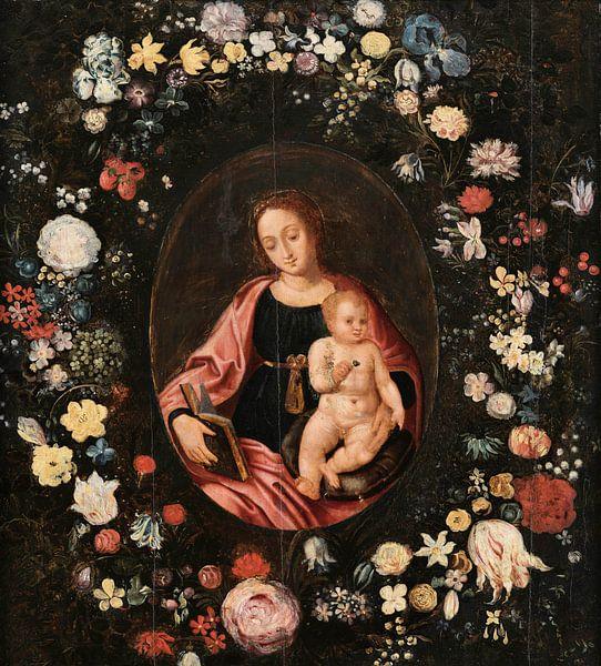 Jungfrau mit Blumen, Daniël Seghers von Meesterlijcke Meesters