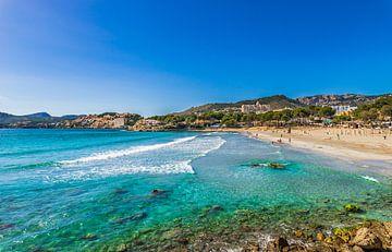 Gezicht op Platja de Tora, strand eiland Mallorca, Spanje Middellandse Zee van Alex Winter