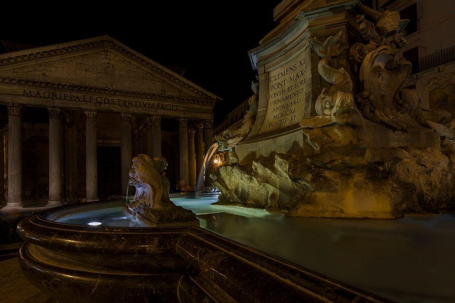 Piazza della Rotonda in Rome (kleur) van Eus Driessen