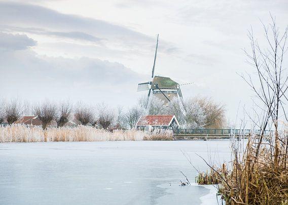 Winterse molen van Arjen Roos