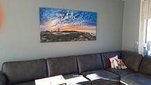 Klantfoto: Noordelijkste puntje van Texel. van Justin Sinner Pictures ( Fotograaf op Texel), op canvas