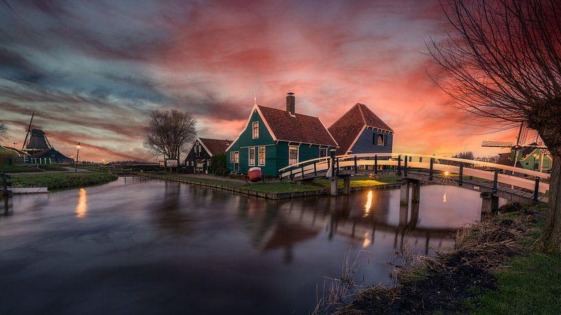 De oude kaasboerderij - Zaanse Schans (NL) van Mart Houtman